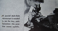 """Syphilis, Its Cause, Its Spread..Its Cure!"" (Detail--Darkfield Exam)"