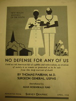 """No Defense for Any of Us"" Cover (<em>Survey Graphic</em> Reprint)"